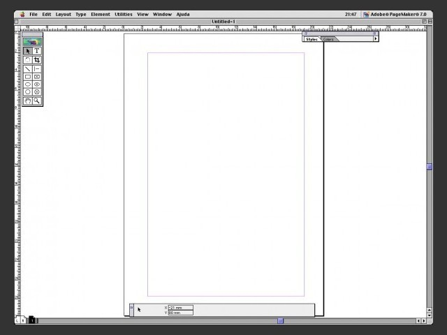 Page Maker 7 on Mac OS 9.2