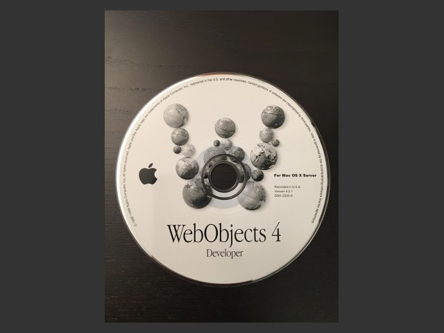 WebObjects 4.0.1 (1998)