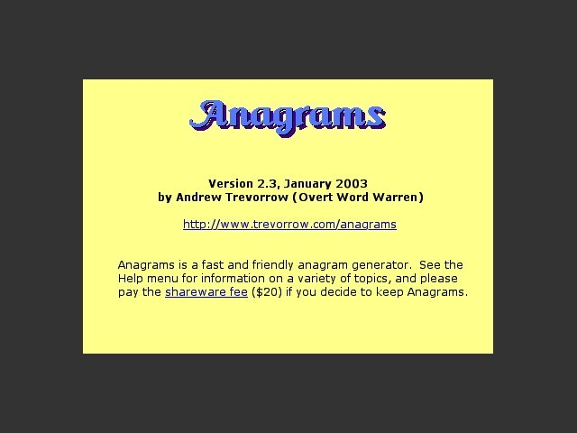 Anagrams (Carbon) (2003)