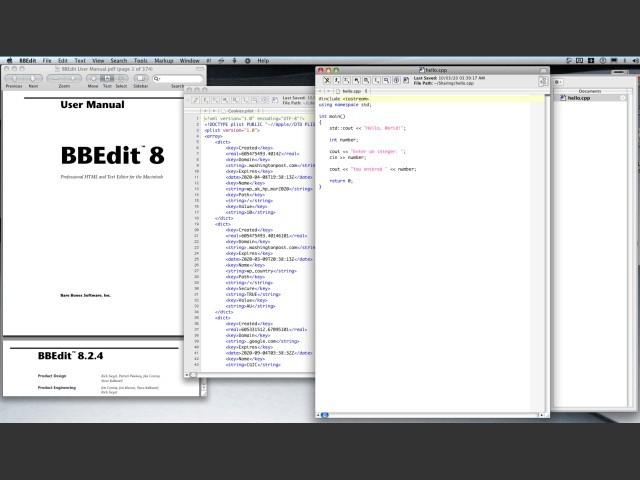 BBEdit 8 + BBEdit 8.2.4 Update (2004)