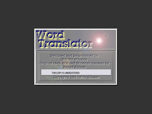 Word Translator 1.7 (1995)