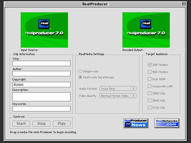 RealProducer Plus 7.0 (2000)