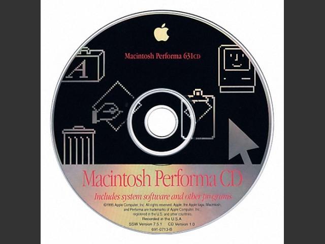 Macintosh Performa 630CD, 635CD, 638CD. SSW v7.5.1. Disc v1.1 (CD) (1995)