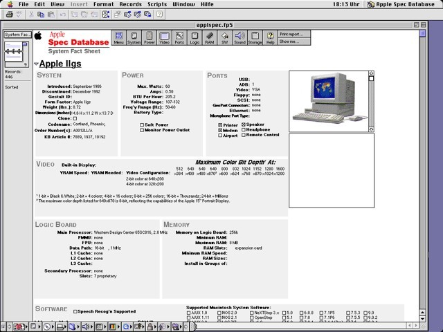 Apple Spec Database (2003)