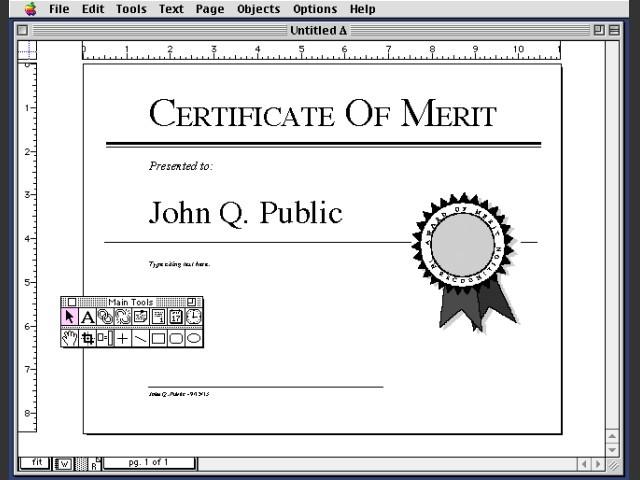 Aldus Personal Press 2.0.2 (1993)