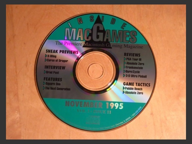 Inside Mac Games CD November 1995 (1995)