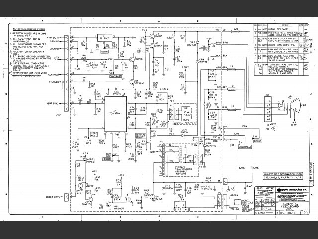 Apple Lisa Schematics (1983)