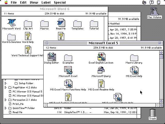 Microsoft Office 4.2.x (1994)