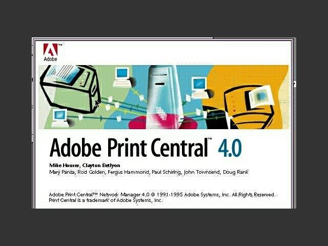 Adobe Print Central 4.0 (1995)