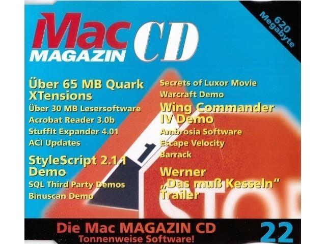 Mac Magazin CD 22 (August 1996, German) (1996)