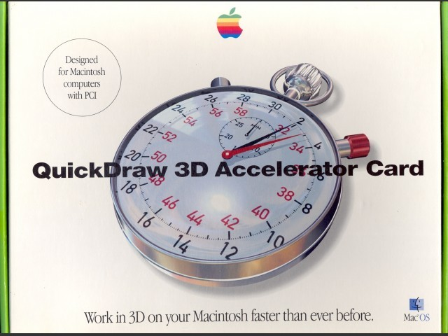 QuickDraw 3D Accelerator Card (1995)