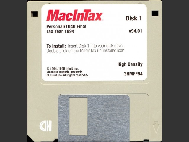 MacInTax 1994 (1995)