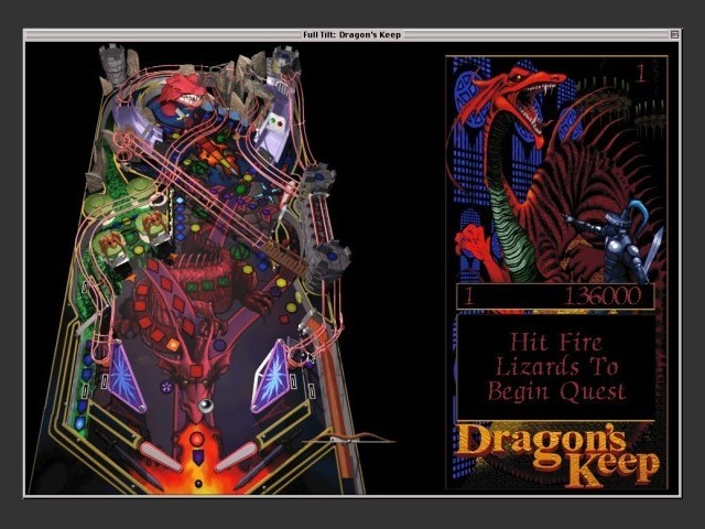 Full Tilt! Dragon's Keep gameplay