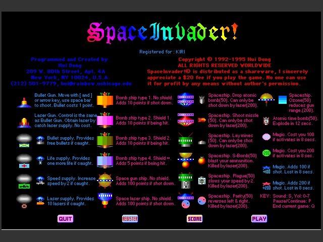 SpaceInvader! (1995)