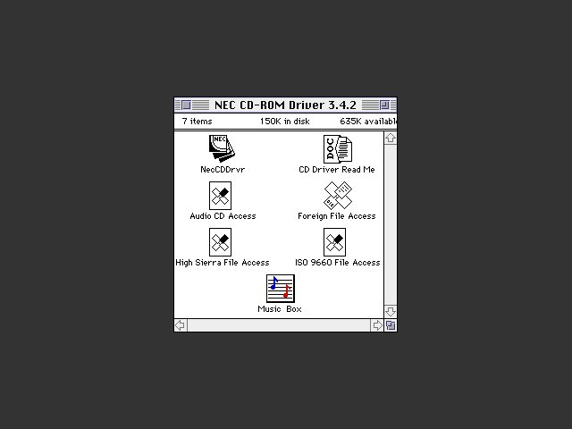 NEC CD-ROM Driver 3.4.2 & 4.0.2 (1993)