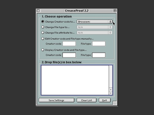 CreaseProof 2.2 (2002)