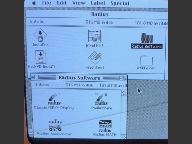RadiusWare (1990) - Displays 4.1, Accelerator 2.9, RadiusMath 1.5 (1990)