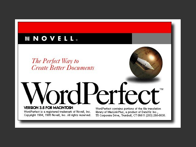 WordPerfect 3.5 [Novell] (1995)