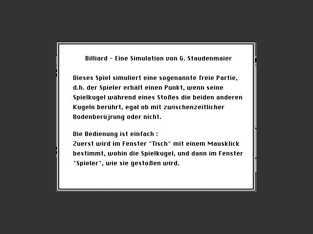 Billiard (German) (1986)