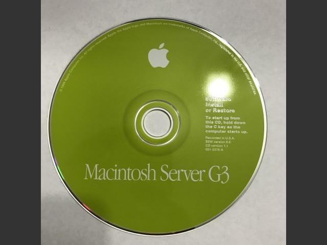 Mac OS 8.6 + SoftRAID (Macintosh Server G3) (1999)