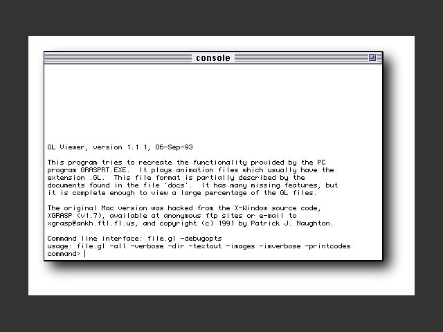 GL Viewer 1.1.1 (1993)
