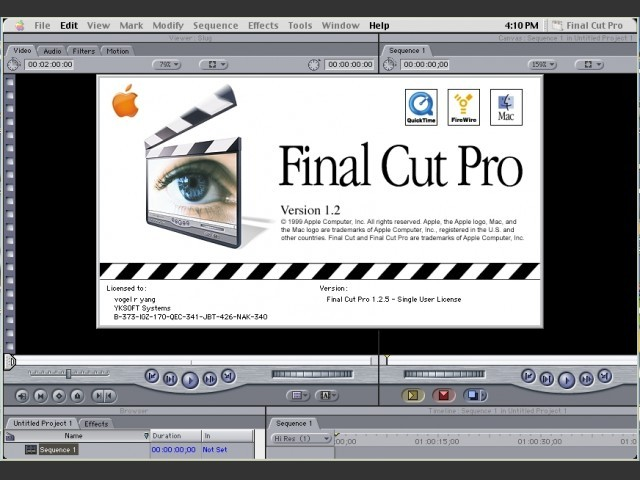 Final Cut Pro 1.2.5 (EN + DE) (1999)