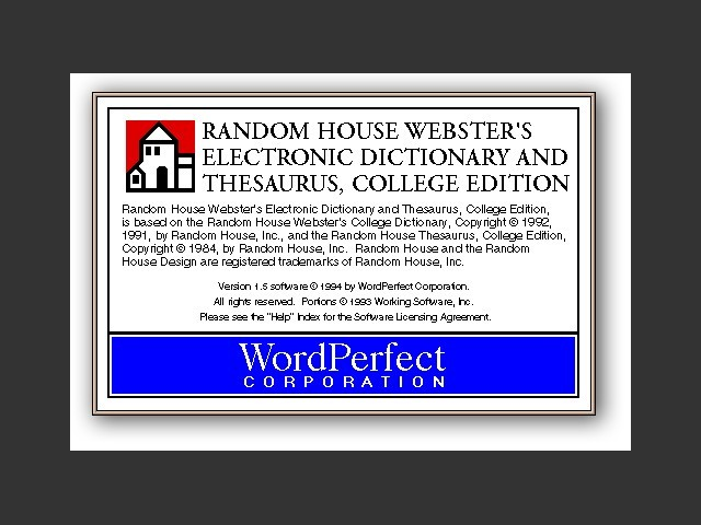 Random House Webster's Electronic Dictionary & Thesaurus (1999)