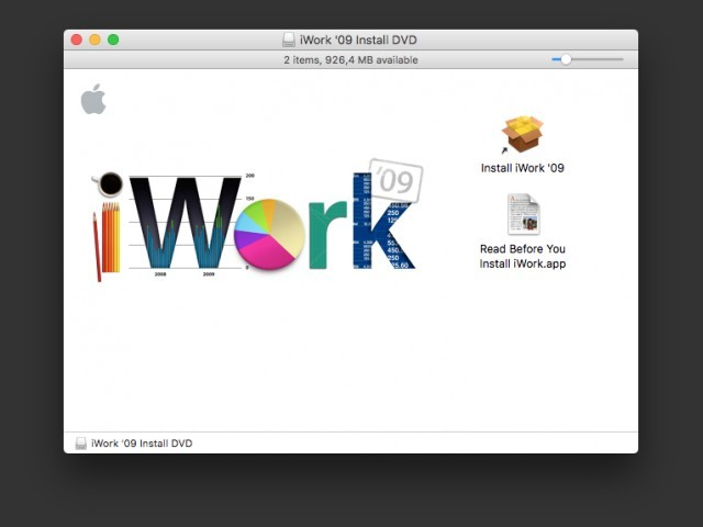 iWork 09 Install Window