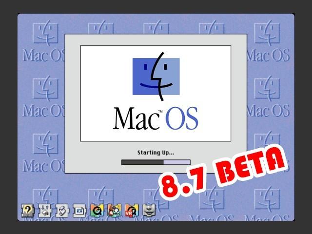 Mac OS 8.7 Beta (8.7a3, 8.7a6c2, 8.7a6c3, 8.7b3c3) (1998)