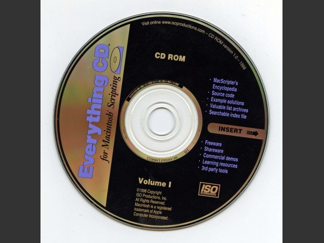 Everything CD for Macintosh Scripting: Volume I (1998)