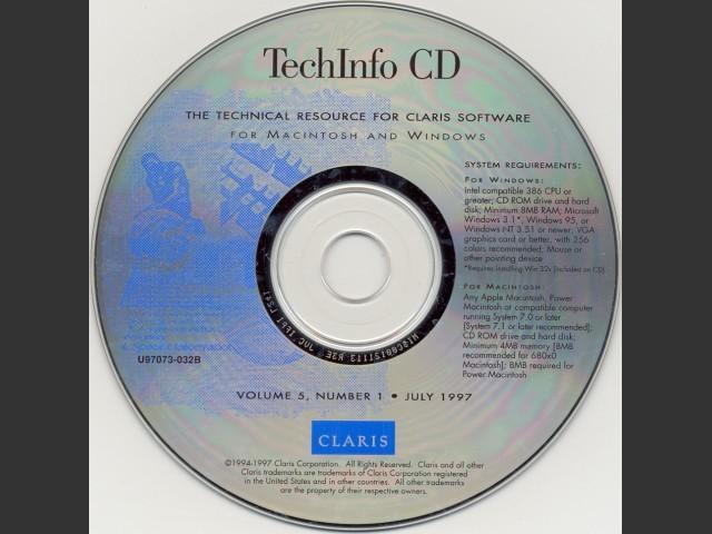 Claris TechInfo CD July 1997 (1997)