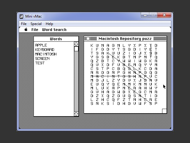Word Search for Mac OS 1.x (1988)