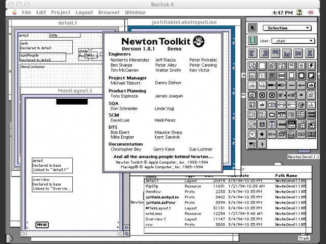 Newton Toolkit (1993)