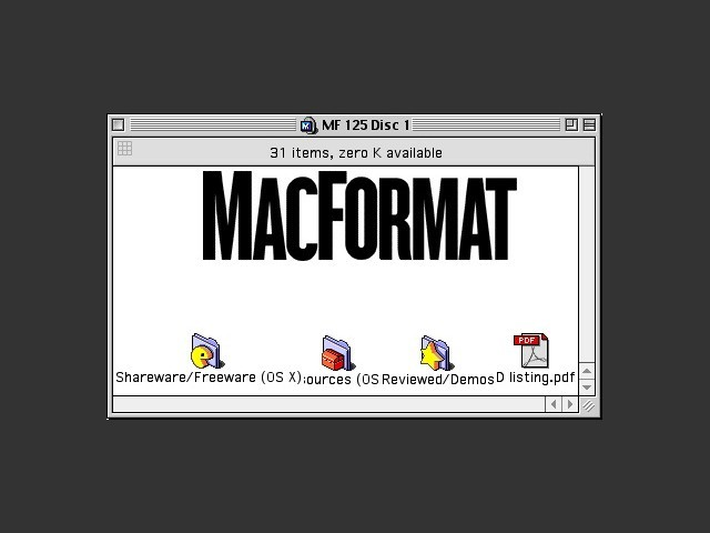 MacFormat CD # 125 (January 2003) (2002)