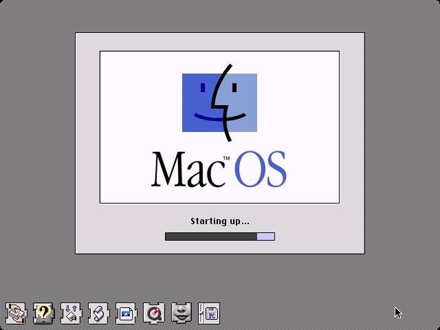Pantalla de arranque Mac OS 7.5.5