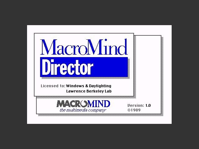 Macromind Director 1.0 (1989)