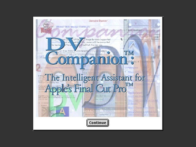 DV Companion for Final Cut Pro (1999)