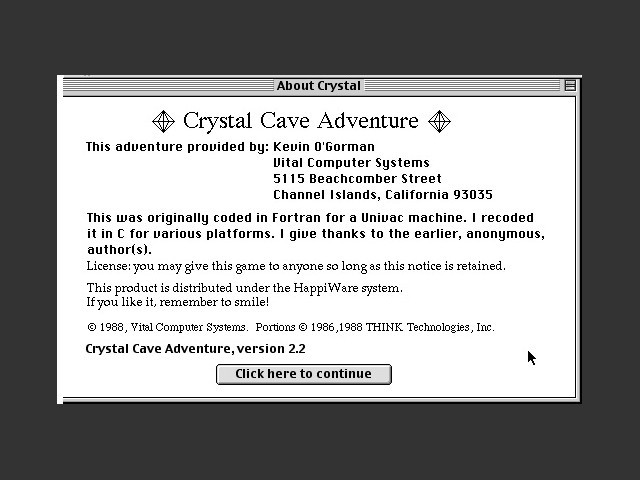 Crystal Cave Adventure (1988)