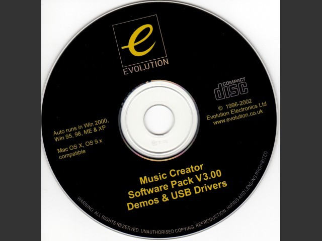 Evolution Music Creator V3 & Drivers (2002)