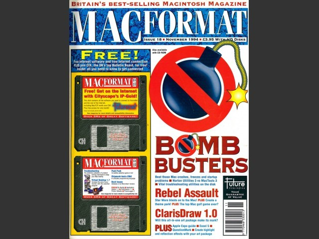 MacFormat 18 (Nov. 1994) Magazine & CD (1994)
