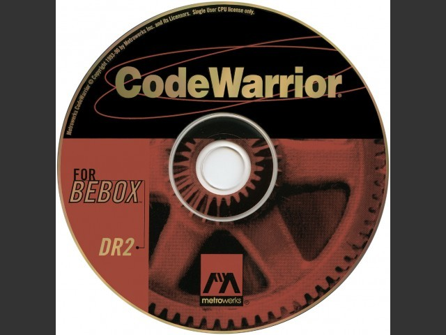 CodeWarrior for BeBox DR2 (1996)