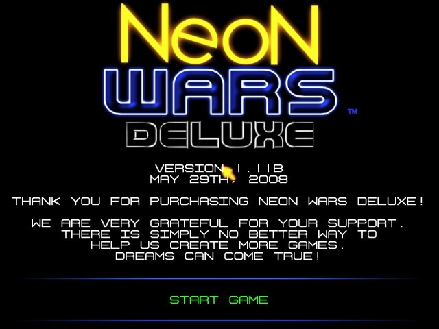 Neon Wars Shareware and Deluxe (2008)