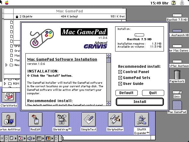 Gravis Mac GamePad (1996)