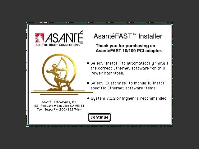 AsanteFast 10/100 PCI Mac Edition (Davicom chipset) v4.0 (0)