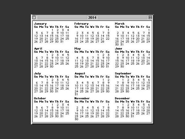 Broadcast Calendar 1.0 (1994)