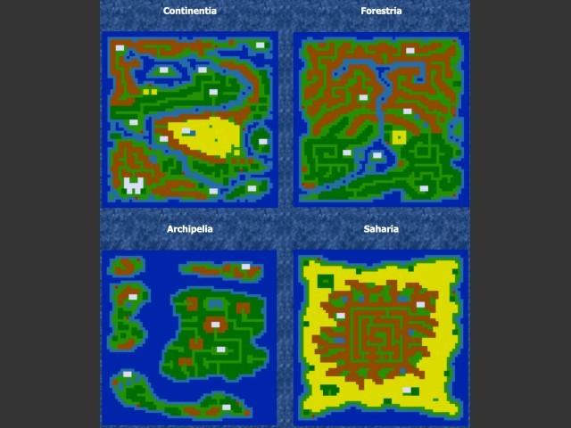 SPOILER ALERT: 4 full maps of the game.