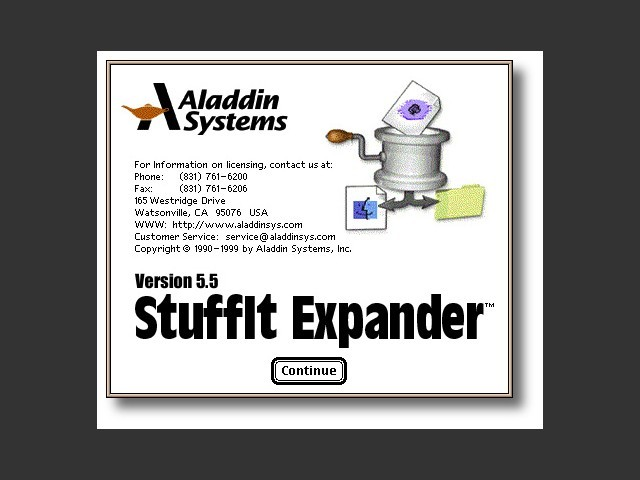 Stuffit Expander 5 splash screen
