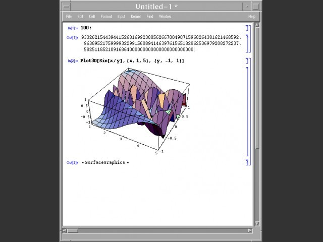 Mathematica - Unix - Window