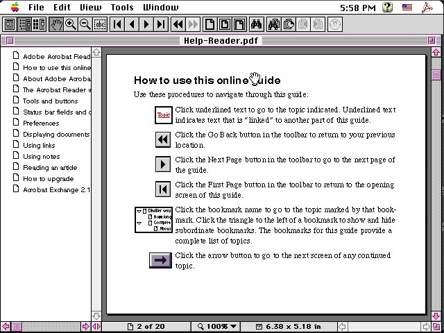 Adobe Acrobat Reader 2.1 (1994)