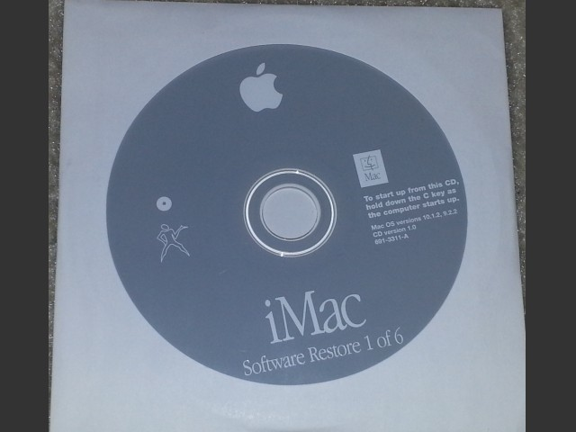 iMac G4 Software Install/Restore (8 CD set) Mac OS v10.1.2, v9.2.2 (2002)